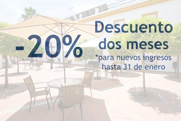 20% Descuento dos meses para nuevos ingresos ORPEA Aljarafe