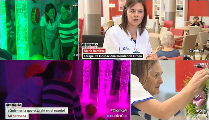 Las terapias para tratar el Alzheimer de ORPEA, en el programa de TV 'Crónica Cuatro'