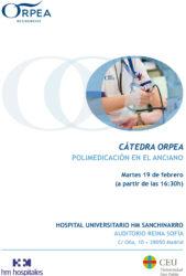ORPEA dedica su primera Cátedra de 2019 a la polimedición en el anciano