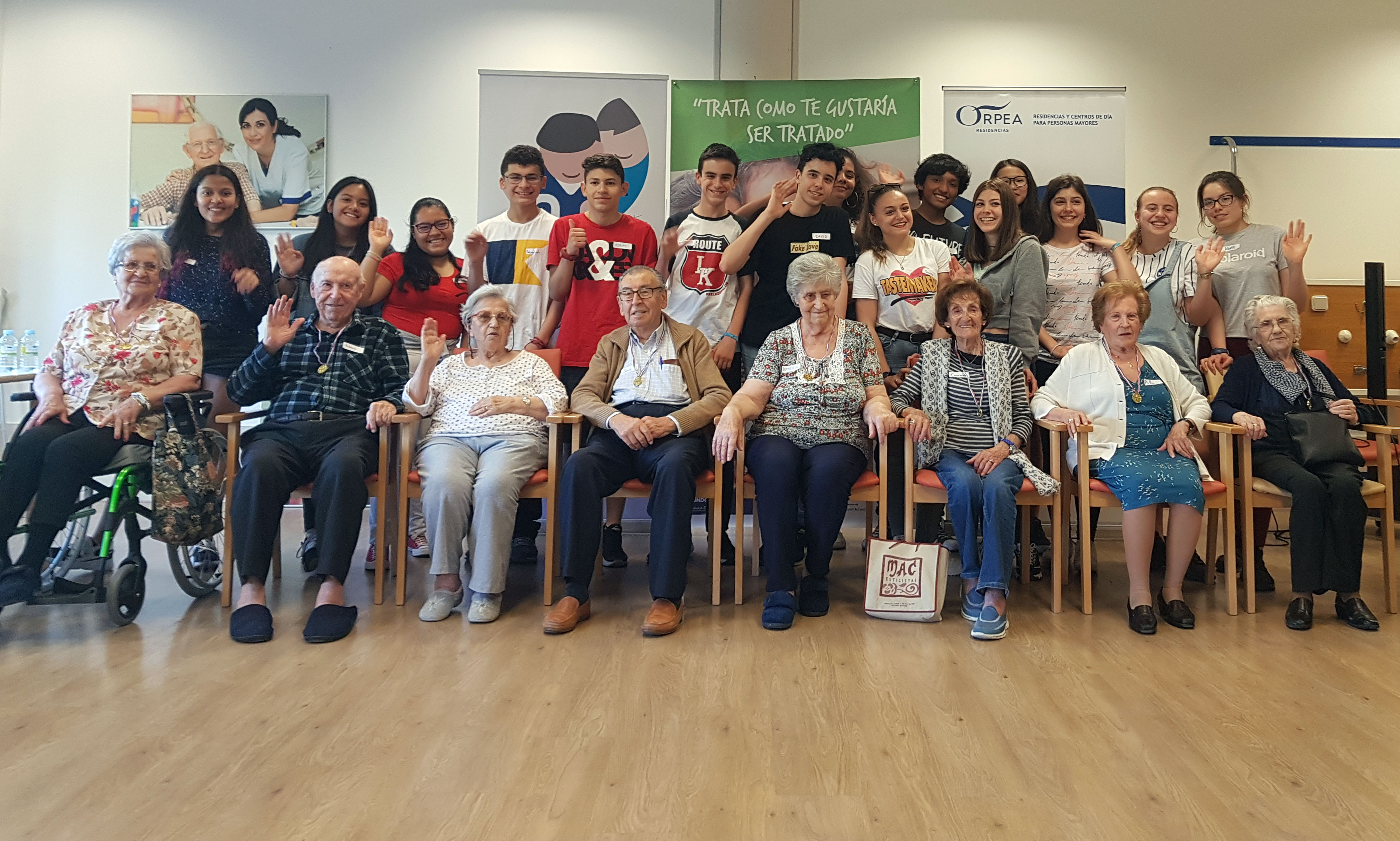 ORPEA Las Rozas acoge el segundo encuentro intergeneracional organizado por Fundación Mayores de Hoy