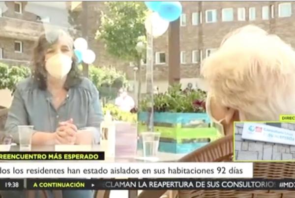Los residentes de ORPEA en la Comunidad de Madrid comienzan a recibir las primeras visitas