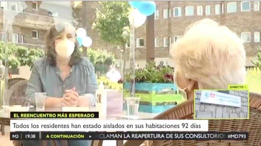 También los residentes de ORPEA en la Comunidad de Madrid comienzan a recibir las primeras visitas