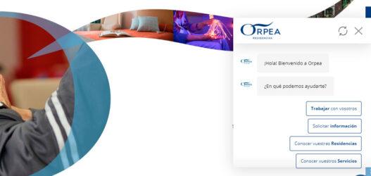 ORPEA lanza un servicio de chat en su web para facilitar  soluciones personalizadas a los mayores y sus familias