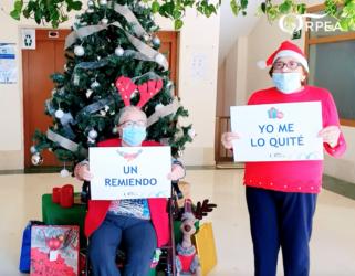 Los residentes de ORPEA graban un villancico para felicitar la Navidad a sus familias