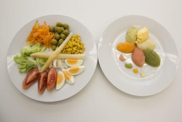 Comida texturizada solución a los problemas de alimentación